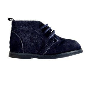 Navy Blue Toddler Dress Shoes in Faux Suede